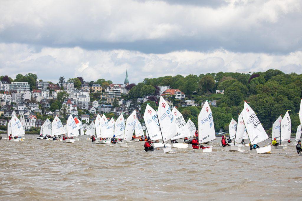 Optimisten auf der Elbe